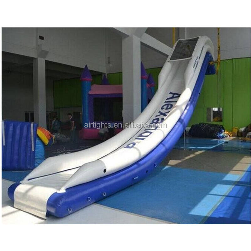 0.65mm PVC inflatable aqua slide, water park inflatable water slide on yacht
