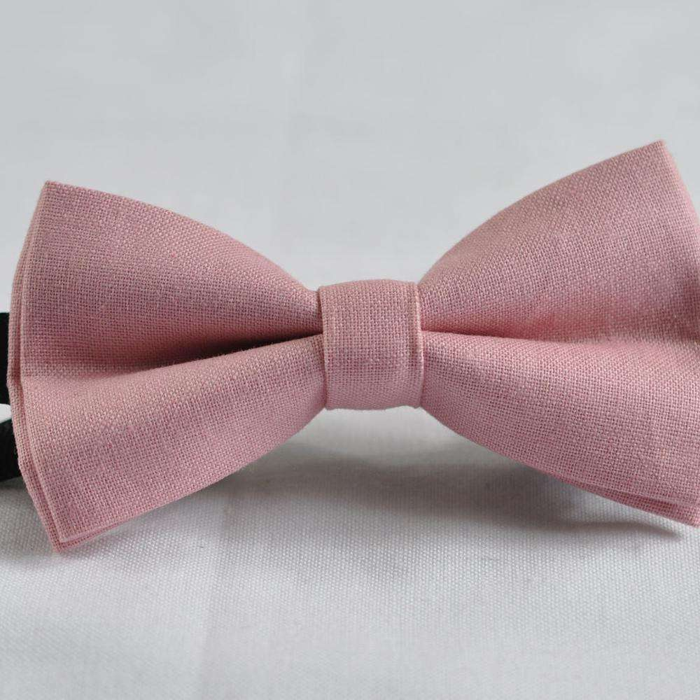 Kids bowtie Baby Bow ties Toddler bow tie Small Size bow ties for toddier solid color service linen bowties Cotton bowties
