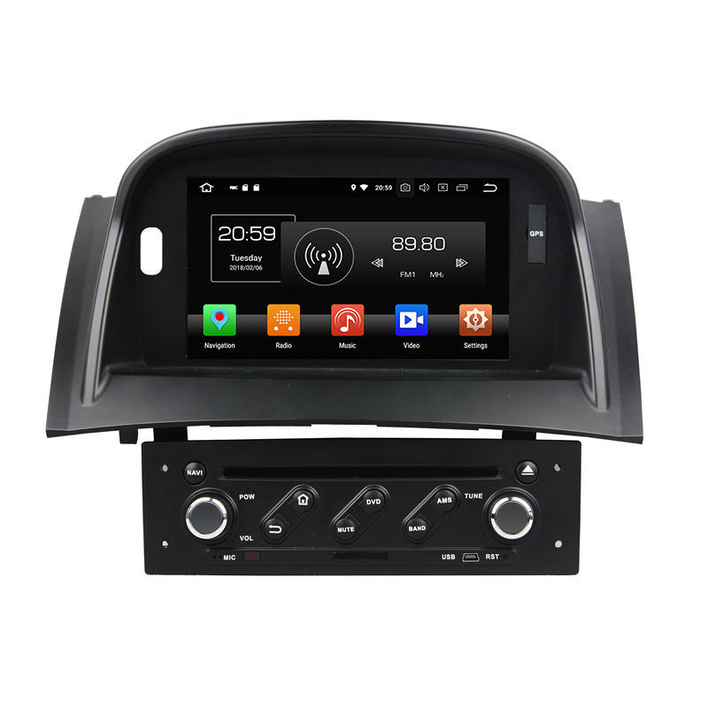 7 incn Android 9,0 system Auto <span class=keywords><strong>DVD</strong></span> player GPS 4GB RAM 32GB ROM für Renault Megane II 2004-2009