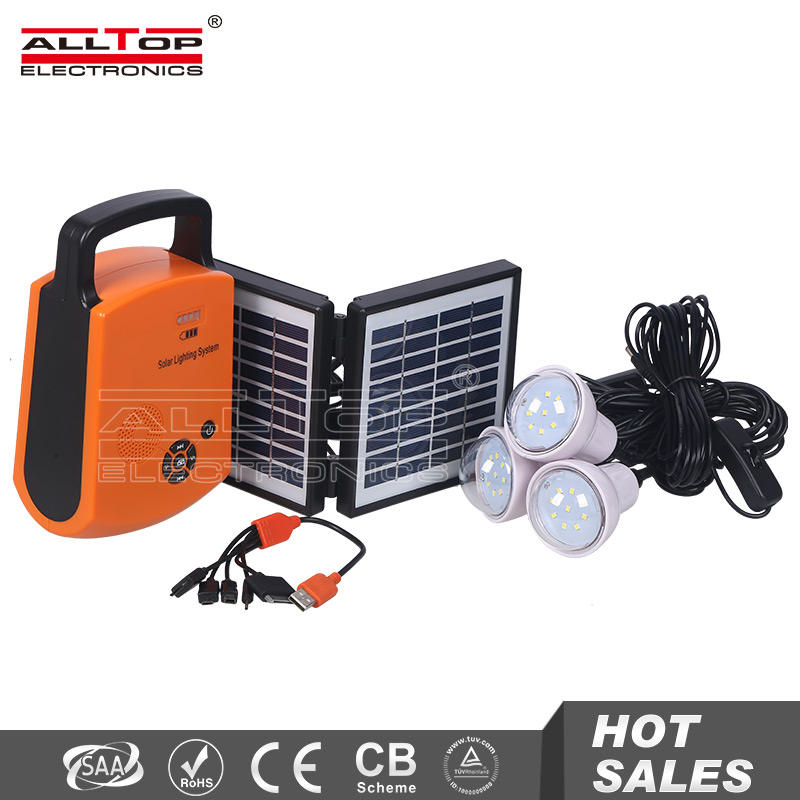 New design wholesale portable 10w solar system panel kit set home