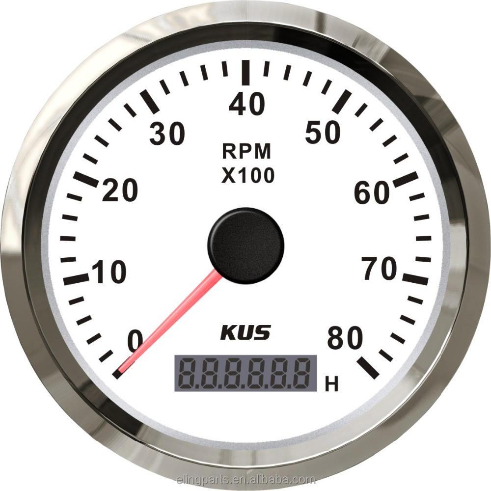 """KUS 3 3/8 """"Universal Marine Moteur Tachymètre Jauge Avec compteur Horaire Bateau <span class=keywords><strong>RPM</strong></span> 0-8000 <span class=keywords><strong>RPM</strong></span>"""