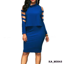 Fashion elegant pictures straight pencil office dress for ladies