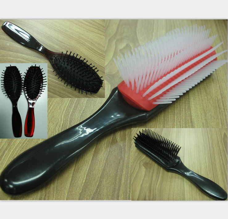 fashionable Hair Extension Brush/hot sell customized travel hotel plastic pp rubber hair brush comb DT-S286