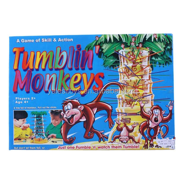 Plastic Tumblin Monkeys game toy