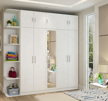 modern clothes wardrobe cabinet with mirror