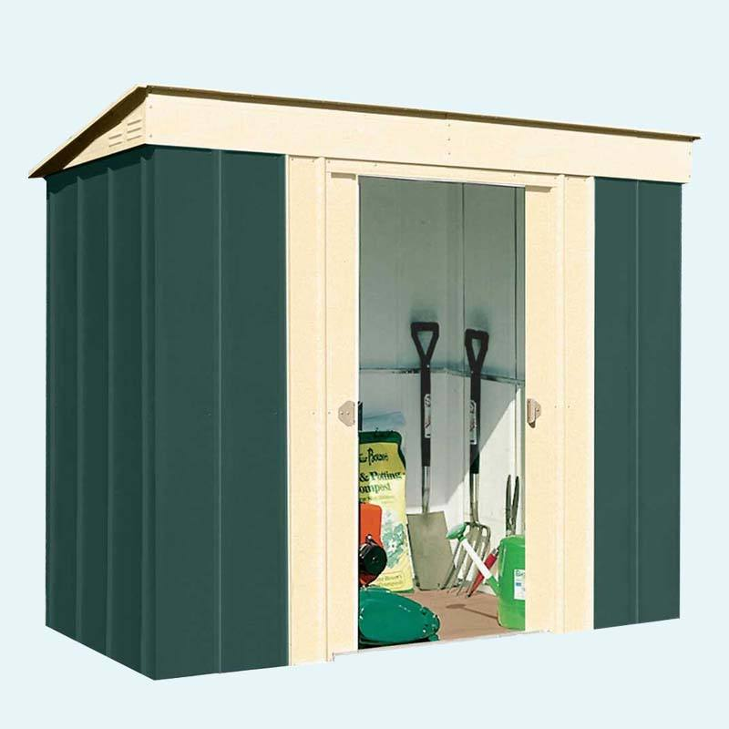 Swing door pent roof garden shed storage sheds and steel structure