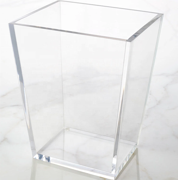 custom transparent acrylic Trash Can from supplier
