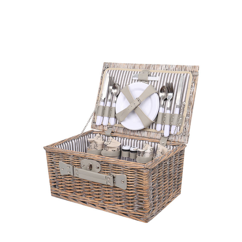 2018 Cheap Delicate Durable Travel Picnic Wicker Hamper Basket