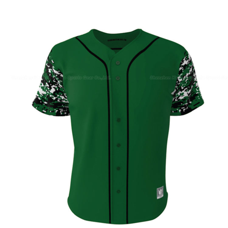 Kawasaki Sublimation sport wear baseball apparel plain custom baseball jersey pattern