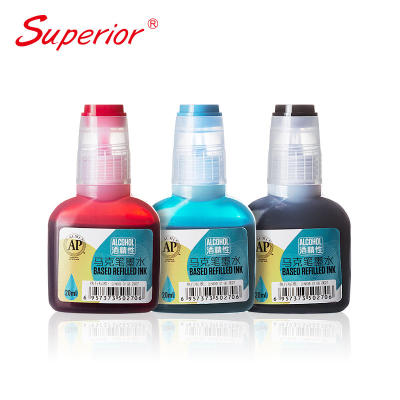 Superior new products alcohol based refilled ink with bottle 216 colors totally dropper bottle ink from japan
