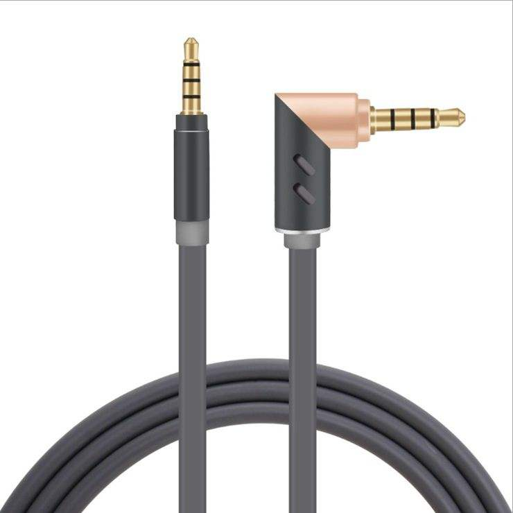 Hot Sale 90 Derajat Bend Auxiliary AUX Kabel Audio Stereo <span class=keywords><strong>3</strong></span>.5 Mm Power Line