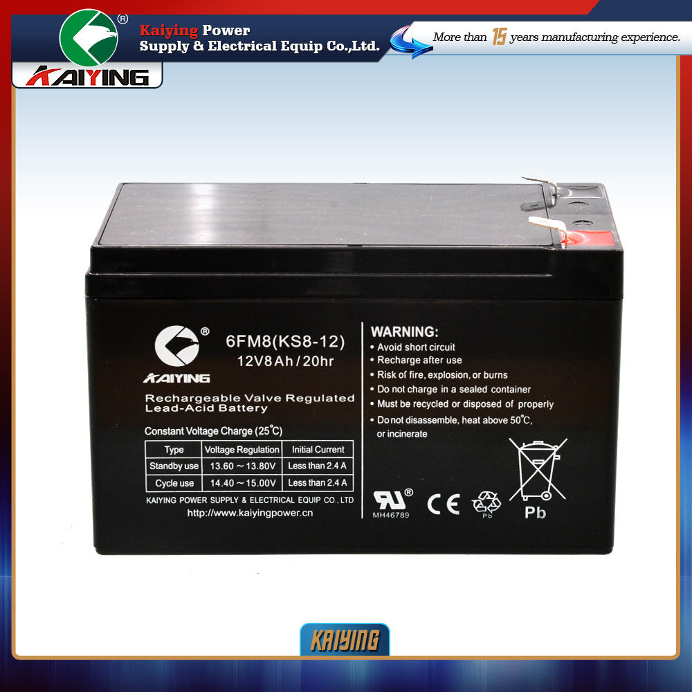 MAX Power Battery 12V 8Ah Umur Panjang Up Dapat Diisi Ulang