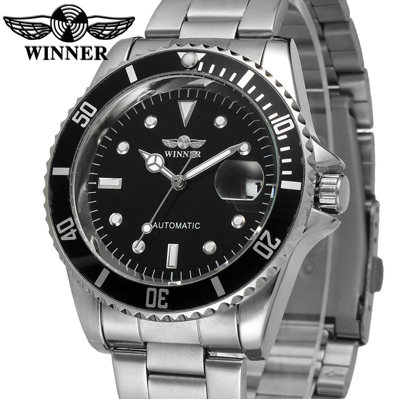 Luxury 핫 T-Winner oem automatic men stainless steel watch