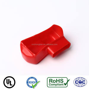 Red color flexible PVC car battery terminal cap