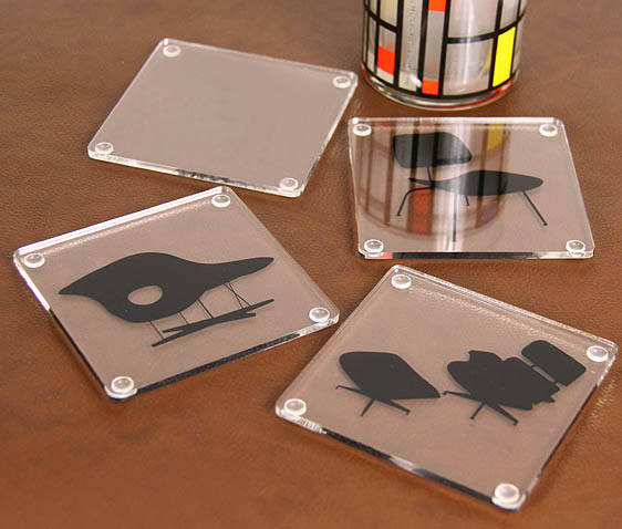Clear acrylic drink coaster plastic mug coster plexiglass cup mats