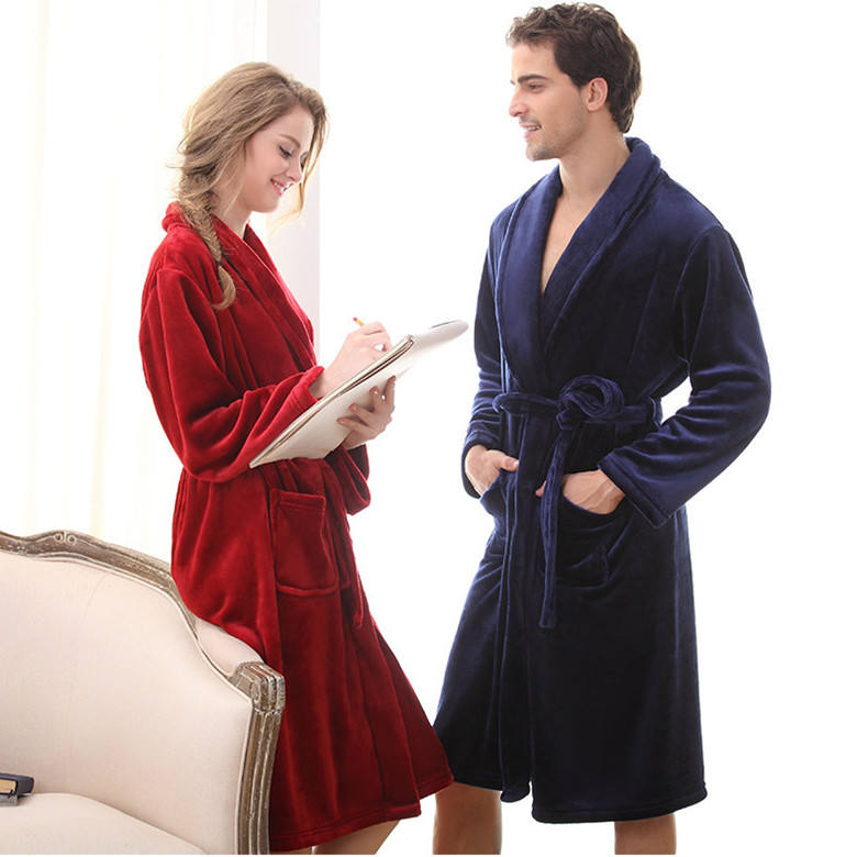 In stock wholesale bathrobe for hotel Women's coral fleece bathrobes Factory customized microfiber bath gown