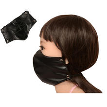Mask Leather Bondage Restraints Face Mask Cosplay Bondage Mask For Adult Game