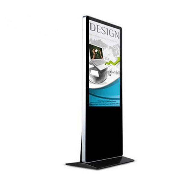 Exhibition 43inch floorstanding advertising totem fair audio&video media player with Win 10 remote managing software