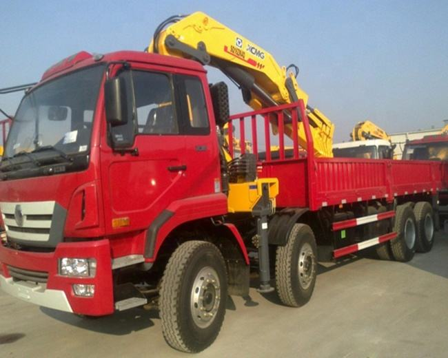 Used type 12 ton truck mounted crane SQ12ZK3Q with knuckle boom for sale