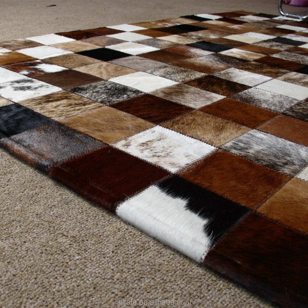 China supplier for Cow hide home decor rug