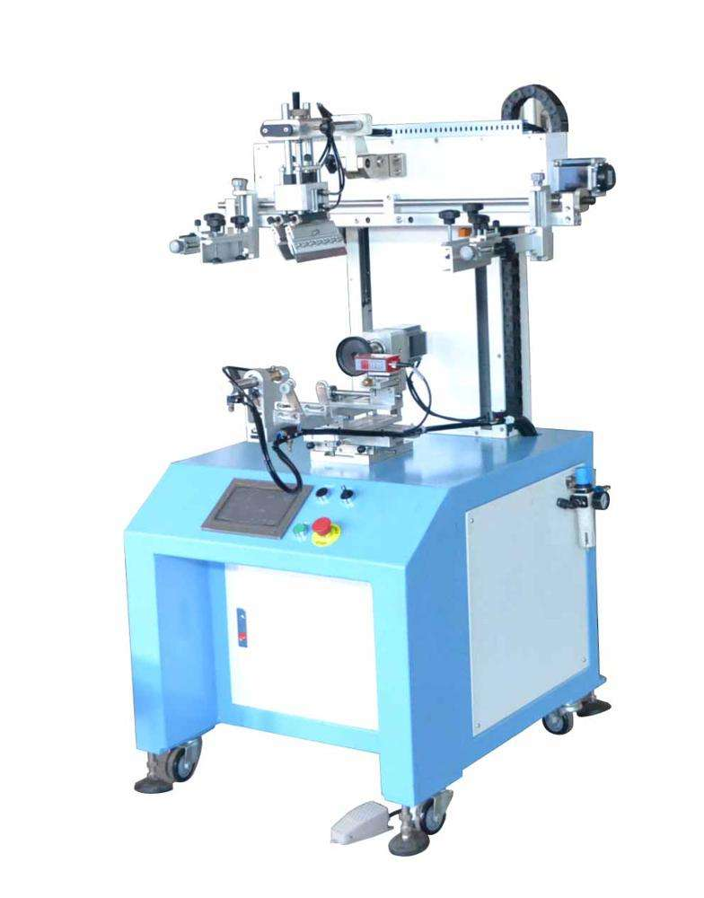 glass bottle PLC Cylinder screen printing machine with automatic recording sensor and Servo function