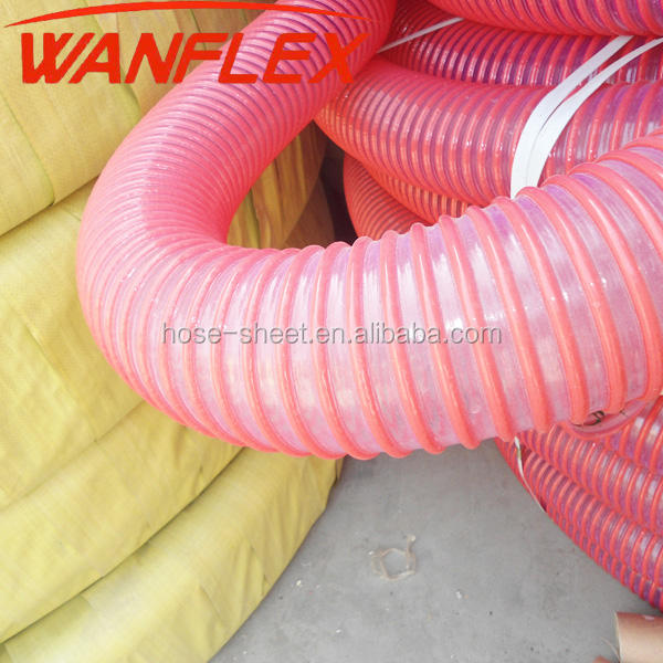 "flexible PVC Water vacuum Suction Hose 1"" 2"" 3"" 4"" 5"" 6"" inch Clear PVC Water Hose"