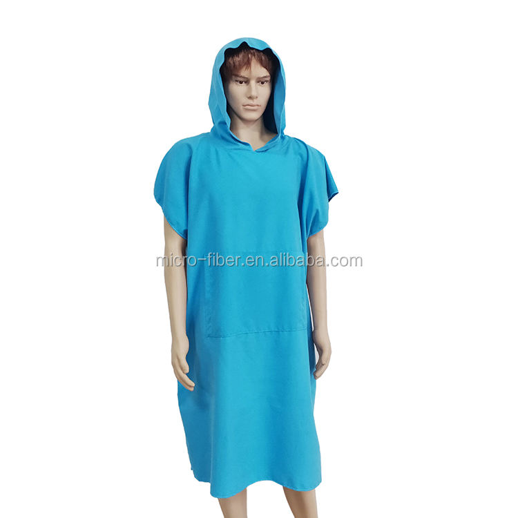 Customized Surf Changing Hooded Adult Beach Microfiber Towel Poncho