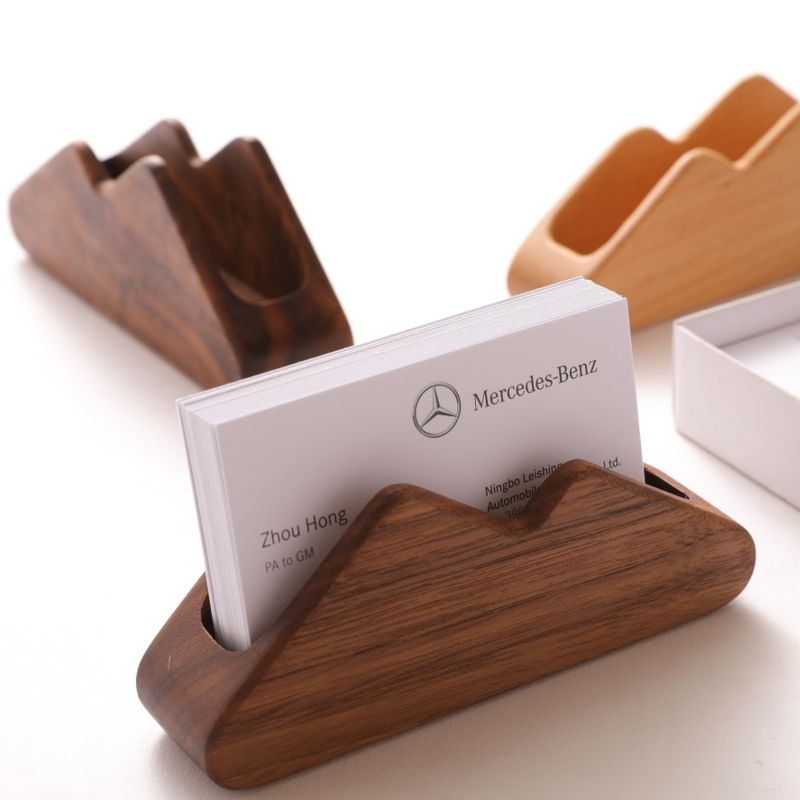 Customized Wooden Creative Storage Business Card Holder