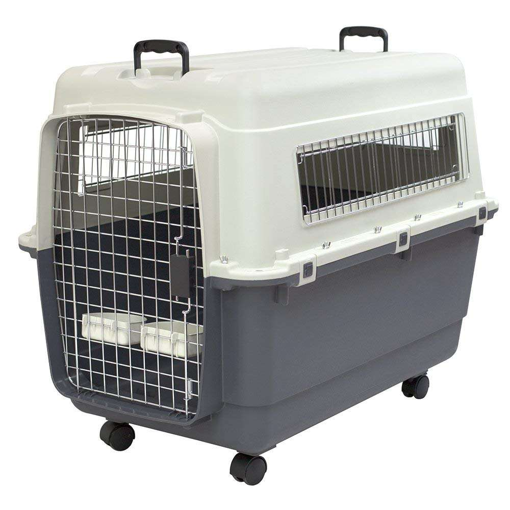 Portable Travel Outdoor Rolling Plastic Dog Crate Kennel