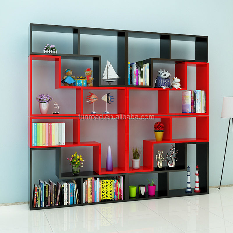 Factory customized free-combination home used wooden cube storage bookcase