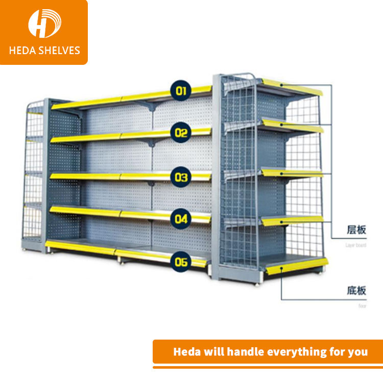 Metallo Supermercato snack display rack/pane cibo scaffale/cancelleria mostra display stand
