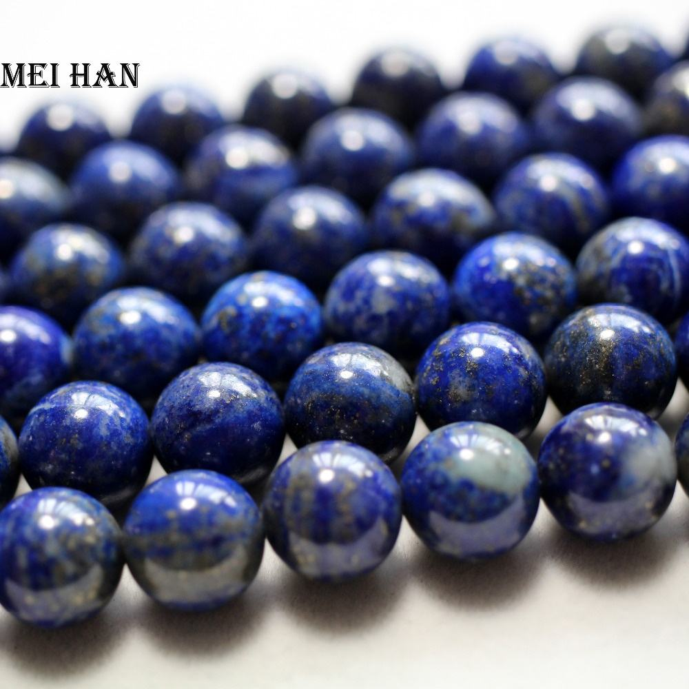 Natural mineral 10mm Afghan Lapis lazuli semi precious stone gemstone loose beads for jewelry making