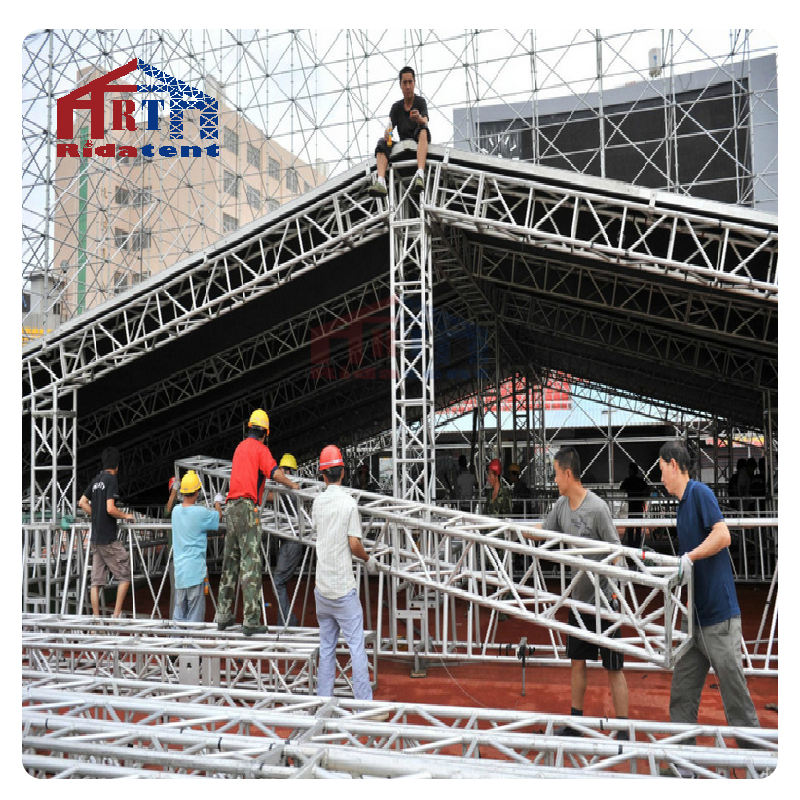 Trade Assure Wholesale Aluminum Frame Simple Standard Truss Exhibition Stage Truss With Nice Design