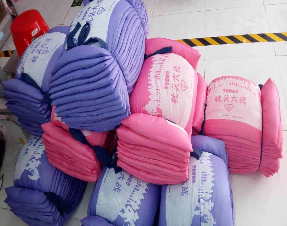 Export home and abroad popular pillow fight game use, duck feather filled pillow fight pillows with customized printing