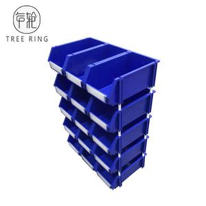 Industrial Simi-open Wrokshop Spare Plastic Storage Stack and Hang Machine Parts Bin For Garage Use