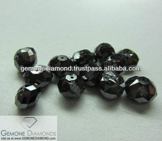 Black faceted moissanite beads for strands and bracelet , Moissanite Beads Jewelry , Beads Strands and necklace