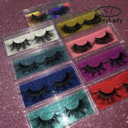 best price for lashses with regular coroful cases  eyelashes case lshes eyelashes mink lashes3d wholesale vendor