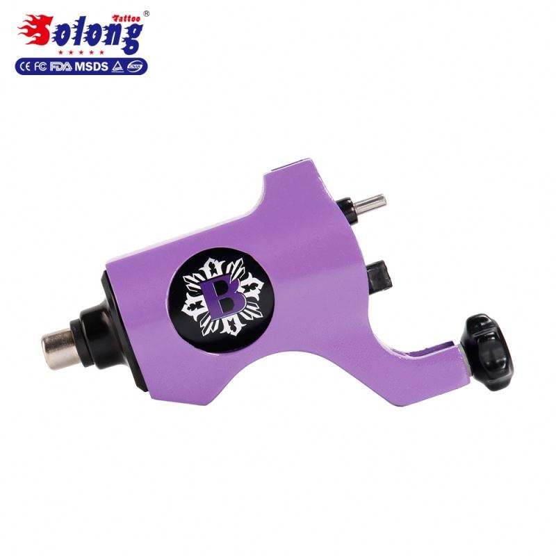 Solong Tattoo Brand M653A-6 Purple Color 4.5w Motor RCA Connect Line Body Art Machine Tattoo Machine Rotary Motors