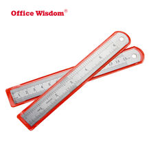 Stainless Steel Straight Ruler Double Side Measuring Rigid English Metric Zero Glare Satin Chrome Machinist Engineer Scale Ruler