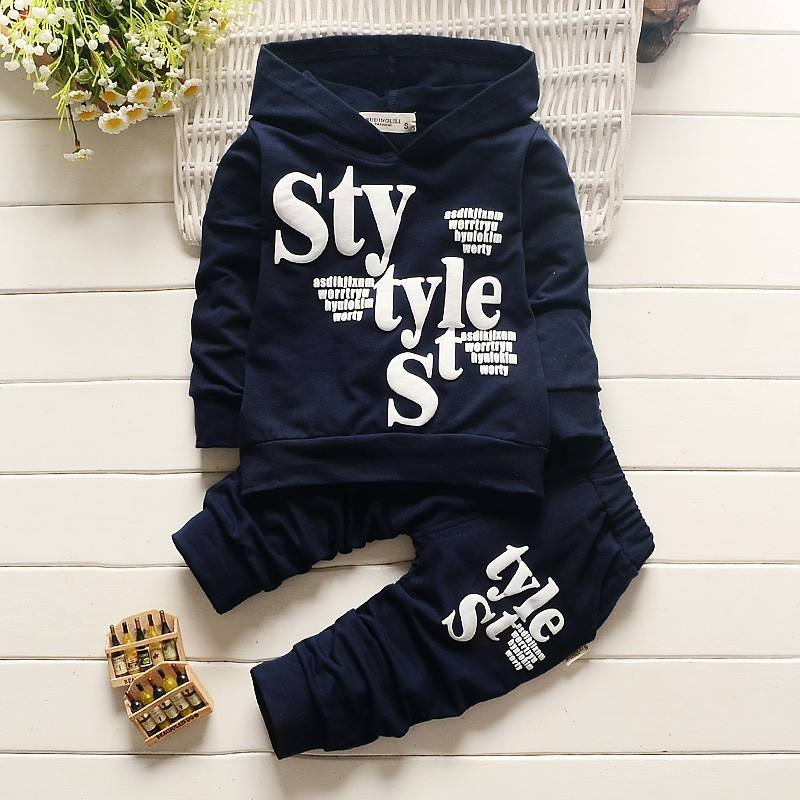 Random Kids Hoodies Clothes 2pcs Baby Boy Outfits Cotton Shirt + Pants Toddlers Boys Clothes Children Suits Boy Clothes sets