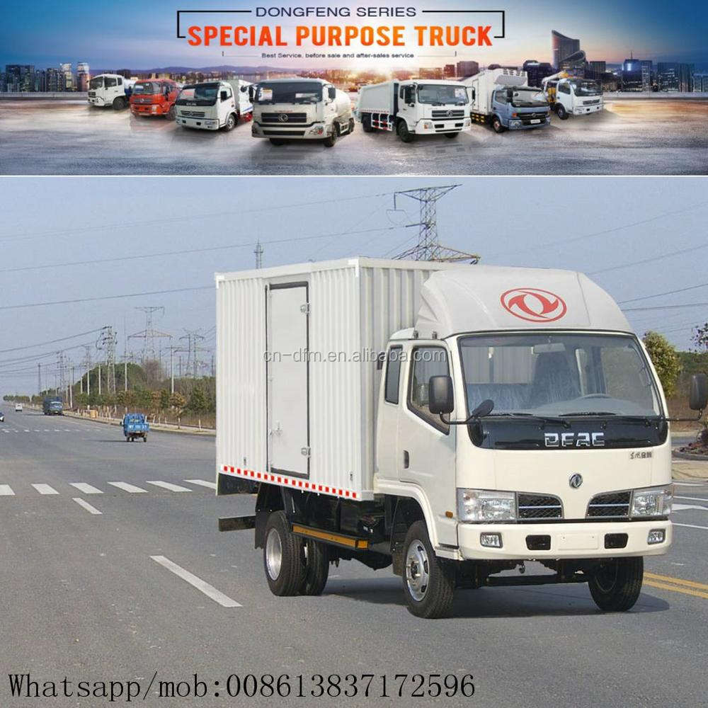 New Condition Right hand drive Dongfeng 4x2 13ton capacity double cabin cargo van , van truck for sale