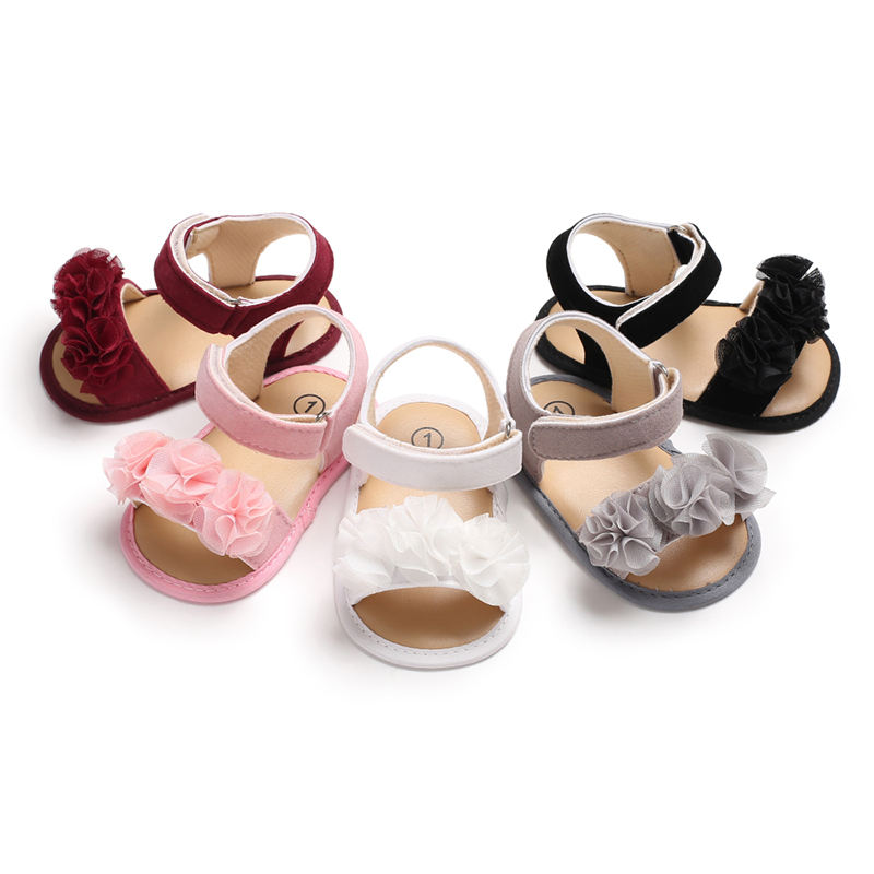Barefoot summer new style leather shoes children's kids baby girls sandals