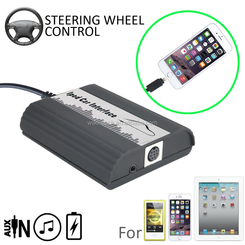 Pour Mazda iPod iPhone Voiture Interface Pour iPhone 6 S 6 S 5S iPod Touch iPad Mini 2- commande au Volant