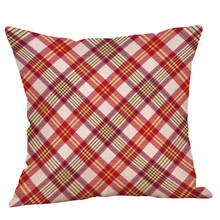 Farmhouse Decor Buffalo Checkers Plaid Jacquard Throw Pillow Covers Cushion Covers for Sofa Couch Bed