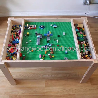 Kids Furniture Lego Table With Toy Storage Children Study Table for Kids