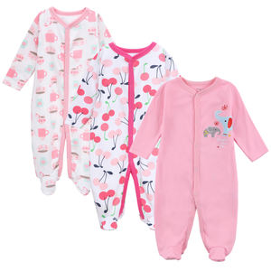 Baby boy girl 3 Pack Cotton Snap Front Sleep and Play Romper baby girl clothes