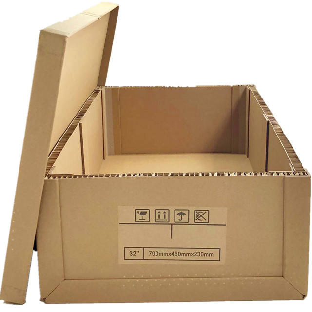 100% Recyclable honeycomb cartons/honeycomb cardboard box