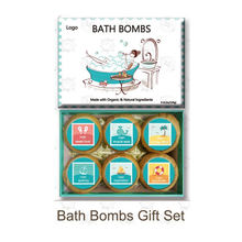 Organic Moisturizing Bath Bomb Gift Set 6*4.1oz Bath Bombs