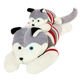 wholesale giant plush animal stuffed toy 50cm plush crushing Husky dog with sweater Large animal coat factory wholesale