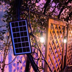 Outdoor Waterproof IP65 7.6m 10lamps 6w 6v remote control solar christmas lights string light over pool